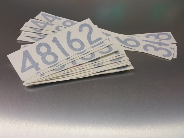 Unit numbers stickers
